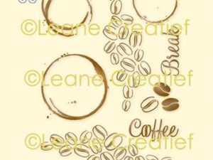 55.5961 Leane Creatief stempel/clearstamp Coffee Beans & Stains-0
