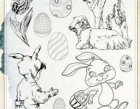 6410/0481 JOY Stempel Clear stamps Easter-0