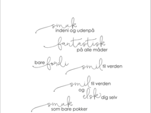 "SBC001 Simple and Basic Stempel ""Smuk indeni og udenpå""-0"