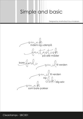 """SBC001 Simple and Basic Stempel """"Smuk indeni og udenpå""""-0"""