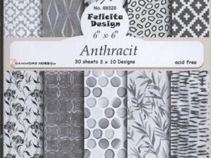 69320 Felicita Design papirsblok 15 x 15 cm Antracit-0