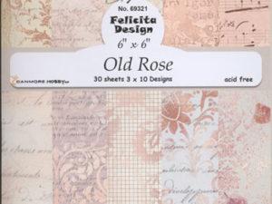 69321 Felicita Design papirsblok 15 x 15 cm Ole Rose-0