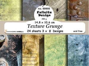 69900 Felicita Design Papirsblok A6 Texture Grunge-0
