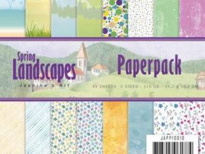 JAPP10010 Jeanine`s Art Papirsblok Spring Landscapes-0
