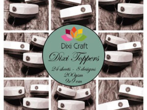 ETL032 Dixi Craft Toppers, Studenterhuer (Sort/hvid)-0