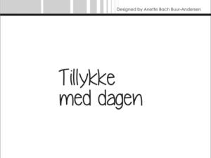 "SBC021 Simple and Basic Stempel ""Tillykke med dagen""-0"