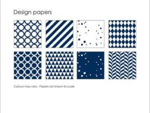 SBP009 Simple and Basic Design Papir, mørkeblå-0