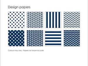 SBP010 Simple and Basic Design Papir, mørkeblå-0