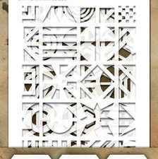 THMST041 Tim Holtz Stampers Anonymous Stencil Mini Stencil Set #41-0