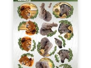 CD11301 Amy Design 3D 1 ark Wild Animals 2-0
