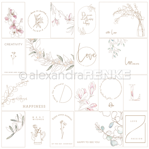 10.1169 Alexandra Renke Designpaper 30x30, Card Sheet Creativity International-0