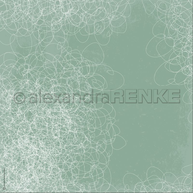 10.126 Alexandra Renke Designpaper 30x30, Chaos Green-0