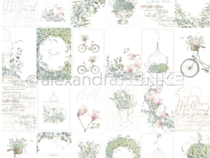 10.1297 Alexandra Renke Designpaper 30x30, Card Sheet Blue Flower Arrangements International-0