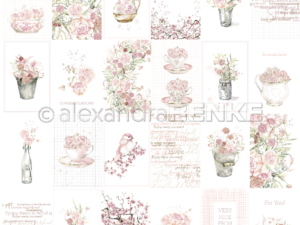 10.1303 Alexandra Renke Designpaper 30x30, Card Sheet Rose Flower Arrangements International-0