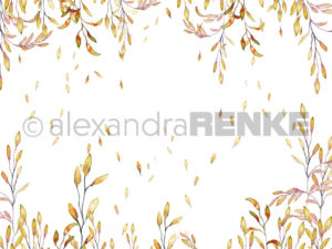 10.399 Alexandra Renke Designpaper 30x30, Orange Tendril-0