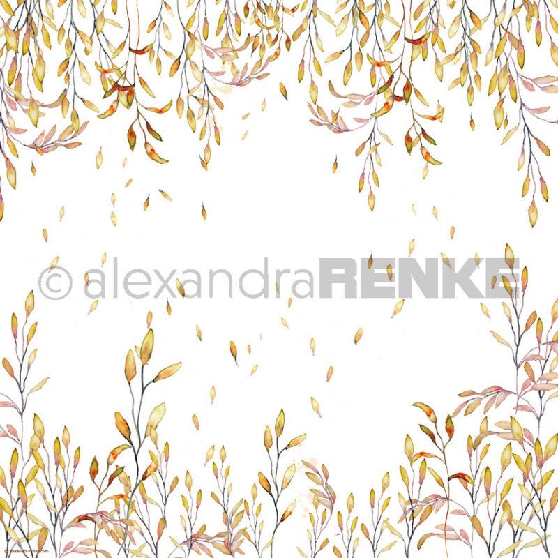 10.399 Alexandra Renke Designpaper 30x30, Orange Tendril-0