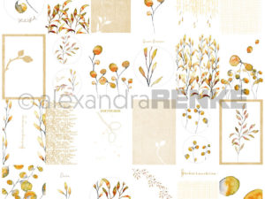 10.400 Alexandra Renke Designpaper 30x30, Cards Sheet Foliage-0