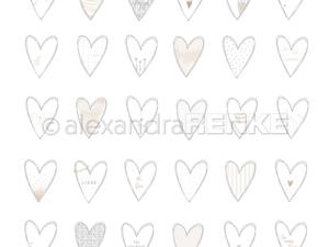 10.1177 Alexandra Renke Designpaper 30x30, Hearts Liebe-0