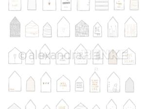 10.1179 Alexandra Renke Designpaper 30x30, Houses Home...-0