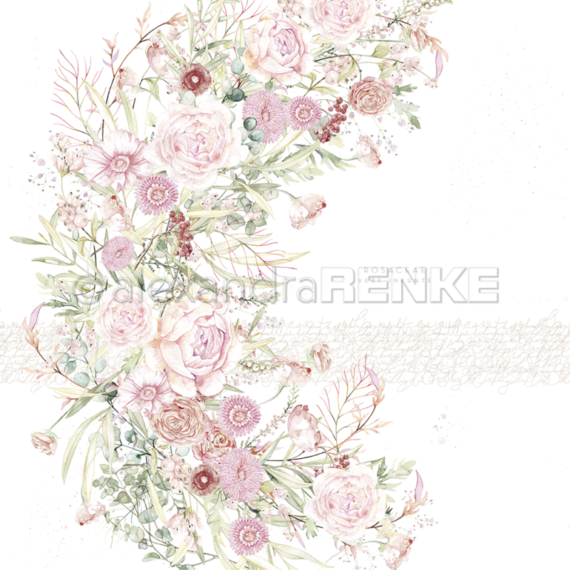 10.1218 Alexandra Renke Designpaper 30x30, Wreath With Roses-0