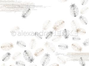10.1245 Alexandra Renke Designpaper 30x30, Falling Feathers Nature-0