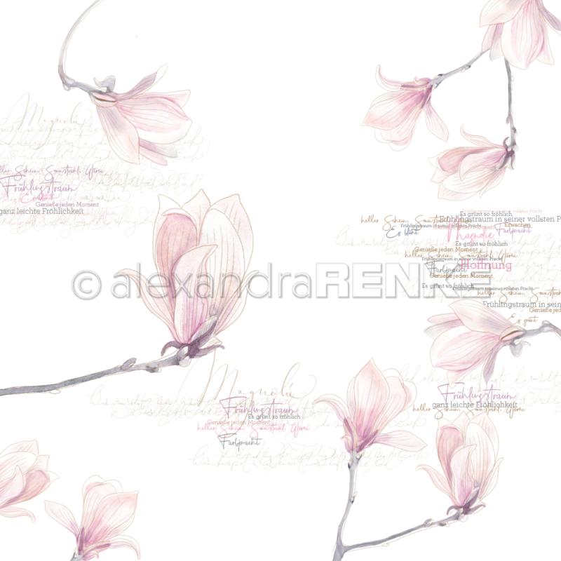 10.1306 Alexandra Renke Designpaper 30x30, Magnolia Blossoms-0