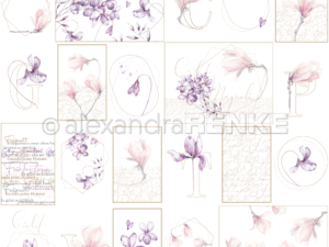 10.1321 Alexandra Renke Designpaper 30x30, Card Sheet Rose Flower Geometry-0
