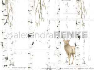 10.300 Alexandra Renke Designpaper 30x30, Watercolor Birch Forest international-0