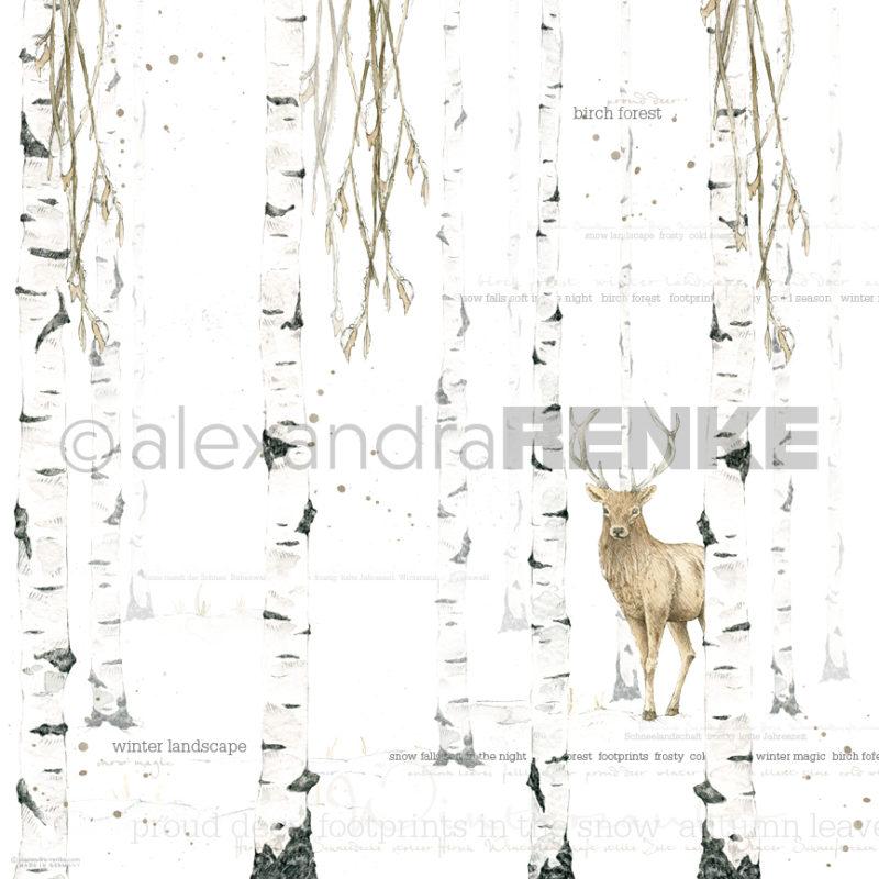 10.300 Alexandra Renke Designpaper 30x30, Watercolor Birch Forest international-0