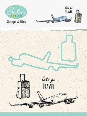 HDCS003 Nellie Snellen Die/Clearstamp - Snellen Design, Lets Go Travel-0