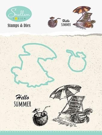 HDCS004 Nellie Snellen Die/Clearstamp - Snellen Design, Hello Summer-0