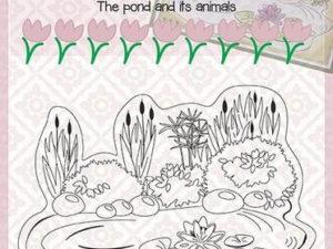 CLP001 Nellie Snellen Clearstamp - Snellen Craft, The Pond And Its Animals, Pond-0