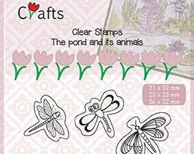 CLP005 Nellie Snellen Clearstamp - Snellen Craft, The Pond And Its Animals, Butterflies-0