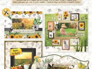 "STANSBLOKSL79 Studio Light Udstanset Blok ""Beatiful Sunflowers""-0"
