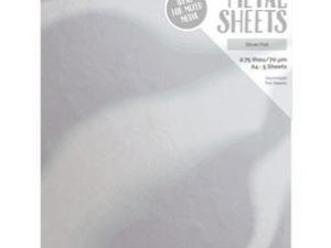 9483E Tonic Studios Craft Perfect Metal Sheets, Silver Foil-0