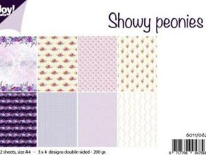 6011/0620 JOY Papirsblok A4 Showy Peonies-0