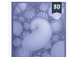 S-NAUT-EF5-3D-SEMED Crafters Companion Embossingfolder 3D, Seashell-0