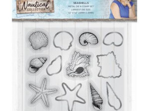 S-NAUT-MDS-SJELL Crafters Companion Die/Clearstamp, Seashells-0