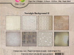 PP0096 Dixi Craft Papirspakning Nostagia Background !!-0