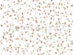 10.1343 Alexandra Renke Designpaper 30x30, Wild strawberries vine-0