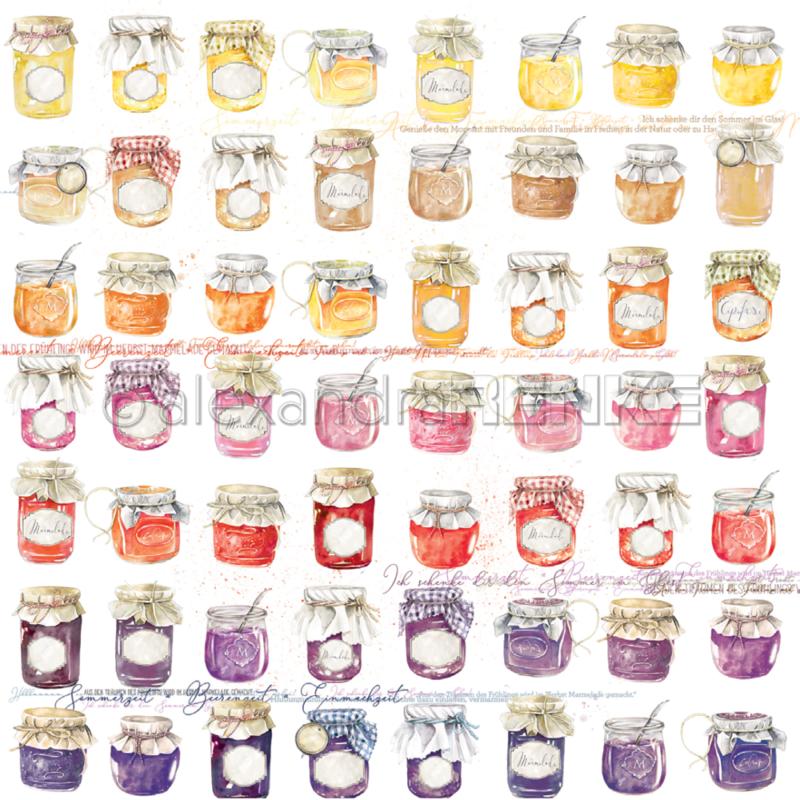 10.1348 Alexandra Renke Designpaper 30x30, Jam jars-0