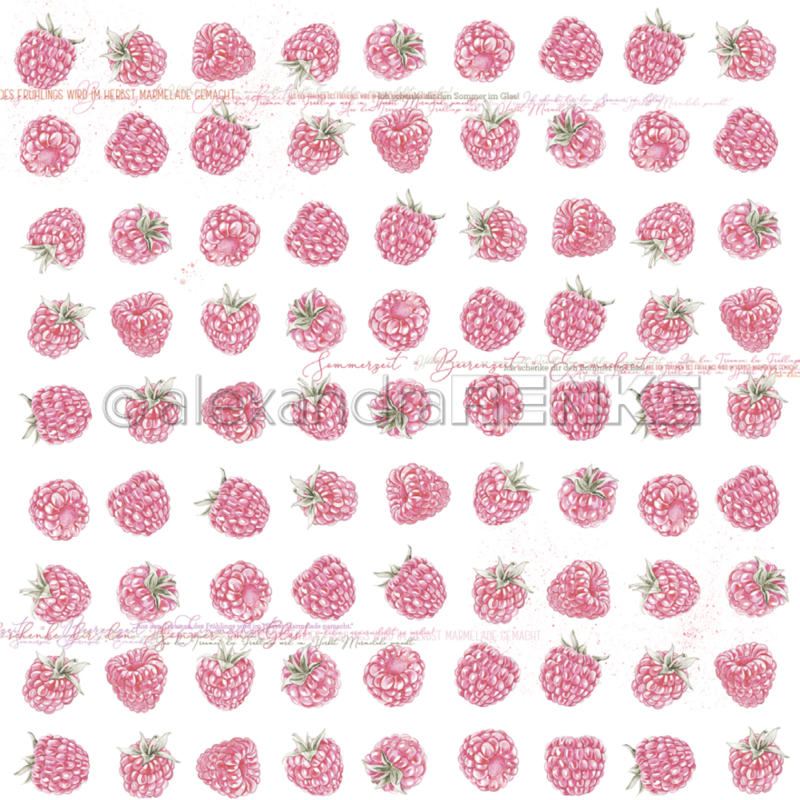 10.1350 Alexandra Renke Designpaper 30x30, Raspberries-0