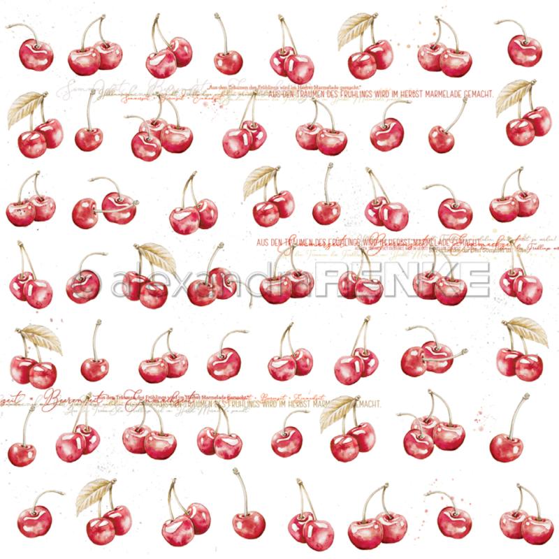 10.1353 Alexandra Renke Designpaper 30x30, Cherries-0