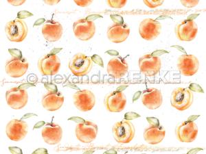 10.1356 Alexandra Renke Designpaper 30x30, Apricots-0