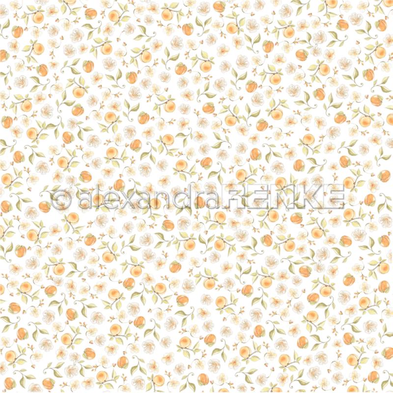 10.1358 Alexandra Renke Designpaper 30x30, Apricot garden-0