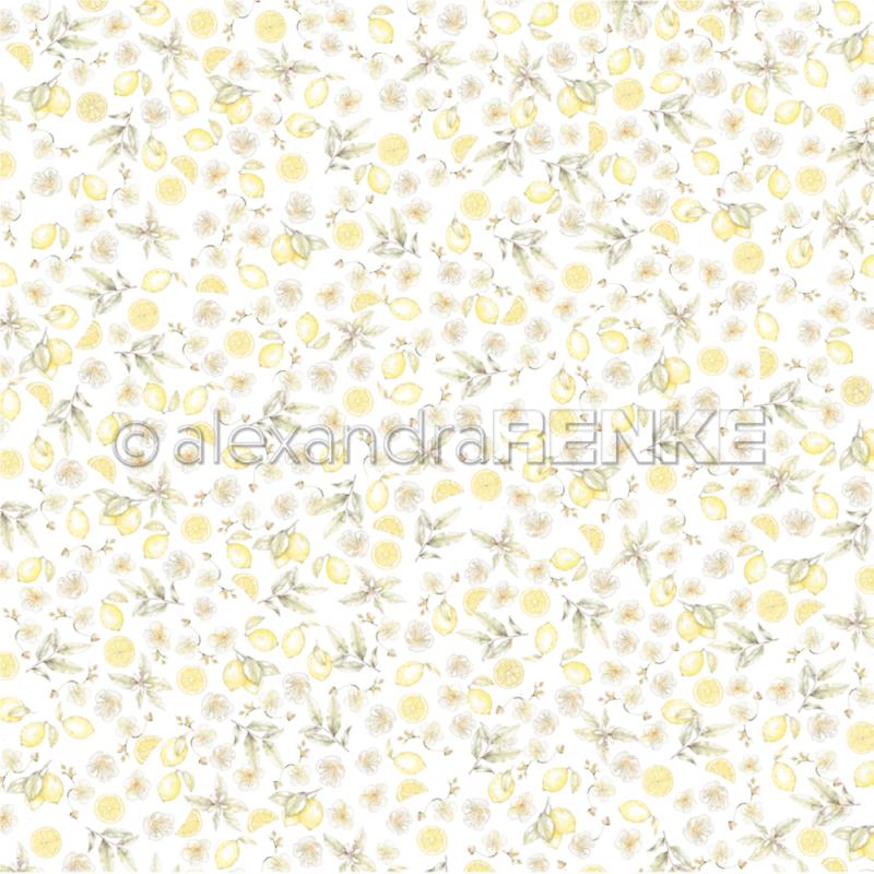 10.1359 Alexandra Renke Designpaper 30x30, Lemon garden-0