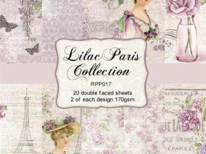 RPP017 Reprint papir 15x15, Lilac Paris Collection -0