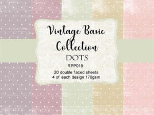 RPP019 Reprint papir 15x15, Vintage Basic Collection - Dots-0