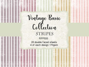 RPP020 Reprint papir 15x15, Vintage Basic Collection - Stripes-0