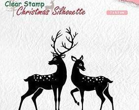 CSIL006 Nellie Snellen Clearstamp silhouette, Deer-0